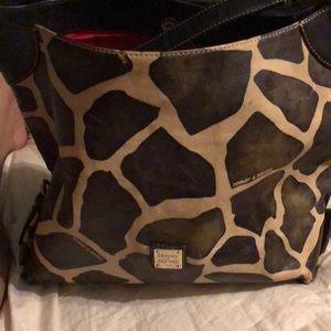 Dooney & Bourke giraffe print purse and wallet